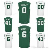Wholesale Kelly Green Shorts - Printed 0 Avery Bradley Jersey Men 6 Bill Russell 41 Kelly Olynyk Basketball Jerseys 00 Robert Parish Color Green White Team Quality