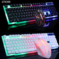 Wired USB Gamer Keyboards 104 Keys Gaming Keyboard and Mouse Backlit Keyboard for PC Desktop Laptop Gamer Keyboard