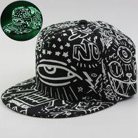 competitive price b04ea 142ce Graffiti Snapback Cap Hat Women Man Noctilucence Baseball Hat Luminous Hip  Hop Cap diamond casquette de gravity fall