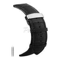 кожаный ремешок оптовых-Pelle watch strap leather 20mm 22mm 24mm 26mm Alligator Replacement Leather Watch Band Soft watchband