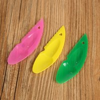 Wholesale Candy Scoops Wholesale - 2 in 1 Kiwi Dig Spoon & Knife Plastic Candy Color Kiwi Fruit Scoop Cutter With Hole wen5916