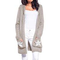 ingrosso maglia con maglia a maglia-LOGAMI Cardigan lungo donna manica lunga maglione lavorato a maglia Cardigan Autunno inverno donna maglione 2018 Jersey Mujer Invierno