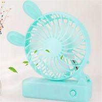 Wholesale Electric Cartoon Fans - Cute Cartoon USB Charging Fan Summer Mini Electric Holding Small Fanner Folding Fan Super Quiet 9 5pc X