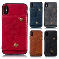 магнитный кейс оптовых-Автомобиль магнитная задняя крышка телефона чехол для iPhone XR XS MAX X 6 7 8 и Samsung Galaxy Note 9 S9 S8 Plus
