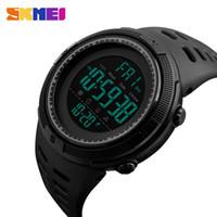 цифровые часы для дайвинга оптовых-Skmei роскошная мужская мода для отдыха на открытом воздухе спортивные часы для дайвинга 50 м цифровые LED военные мужская мода для отдыха электронные часы деко