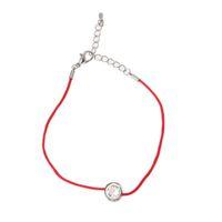 rote fadenkristalle großhandel-Mode Lucky Red Cord Faden Schnur Seil Kette mit CZ Zirkonia Armbänder Für Frauen Handgemachte Kristall Schmuck liebhaber
