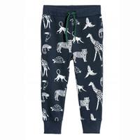 bebek bat pantolon toptan satış-Atlama metre Bebek erkek Sweatpants pamuk yarasa baskılı 2018 pantolon tam boy çocuk boys pantolon sonbahar çocuk giysileri sweatpant