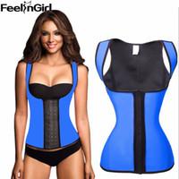 3cc4daa13a Feelingirl 100% Latex Waist Cincher Steel Bone Corset Waist Corsets  Bustiers Slimming Shapewear Vest Korsett For Women -A