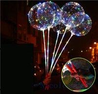 светодиодные лампы оптовых-Instagram Hot sale led ballons яркий пузырь свет воздушный шар с блеском светодиодные ленты украшения партии с Полюсом в руке