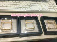preços iphone iphone venda por atacado-Mais novo mais barato preço de fábrica de metal com real banhado a ouro com real cristal de diamante caso bumper quadro caso para apple watch bumper 38mm42mm