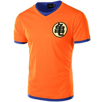japan-baumwollt-shirt groihandel-Europa Größe Dragon Ball-T-Shirt Mann-Sommer-Dragon Ball-Männer Slim Fit Cosplay 3D-T-Shirts beiläufige Baumwolle T-Shirt Homme China Japan Karikatur