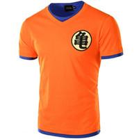 camiseta cosplay al por mayor-Tamaño de Europa Dragon Ball Camiseta Hombres Verano Dragon Ball para hombre Slim Fit Cosplay 3D Camisetas Casual algodón camiseta Homme China Japón dibujos animados
