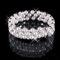 bbd4711455b5 2018 Pulsera de perlas de imitación Joyería nupcial Accesorios de boda Joyas  de fiesta de la tarde Mujeres Joyas de fiesta de baile Pulsera nupcial ...