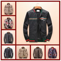 Wholesale peplum jackets xl - 2018 Hot High Quality Brand Snake Print Stand Collar Jacket Luxury Famous Brands Men's Fashion Spring And Autumn 3D Jacket Size M-3XL