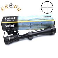 retículo del francotirador del alcance del rifle al por mayor-BUSHNELL 3-9X40 Alcance Riflescope Caza Venado Sniper Alcance Óptico Pistola de Aire Rifle Al Aire Libre Tactical Reticle Sight Scope