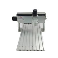mini cnc roteadores venda por atacado-Mini cnc 3040 máquina de corte de metal quadro de madeira router com e parafuso de bola adequado DIY cnc fresadora