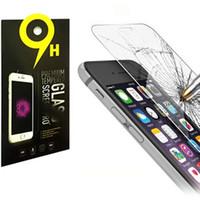 iphone premium ekran koruyucusu 2.5d toptan satış-Temperli Cam ekran koruyucu için iphone X iphone 7 8 artı Premium Gerçek Film Ekran Koruyucu Samsung Not 5 için 2.6mm 2.5D galaxy S7 S6