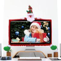 ingrosso decorazioni di bordi-Christmas Computer Cover Decorazione per la casa LCD Monitor Border Cover Screen Protezione per il bordo Decorazioni di Natale per la casa Festival Parrty