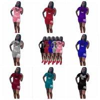 Wholesale wholesale outdoor sportswear - 8 Colors PINK Letter Shorts Suit Short Sleeve T-shirt Short Pants Pink Outfits Tracksuit Set Outdoor Sportswear 2pcs set CCA9763 20set