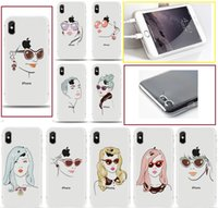 Wholesale paintings for lover resale online - For iPhone cases fashion girl Lover ultra thin TPU painting phone Case back silicone Cover shell for iphone X S Plus S