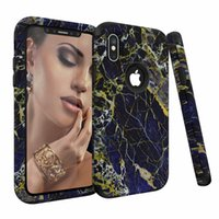 Wholesale armor painting - 3 In 1 Hybrid Defender Armor Marble Painted Case Dual Layer Shockproof Cover For iPhone X 8 7 6s plus Samsung Note8 S9 plus Opp Soundmae