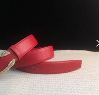 Wholesale spike belts - In 2018, the new fashion belt, red pattern belt and high-end brand.Single metal spikes.