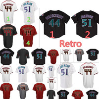 Wholesale high quality red wine - Arizona #44 Paul Goldschmidt 51 Randy Johnson Jersey High quality Men's Retro Baseball Jerseys Embroidery Logos