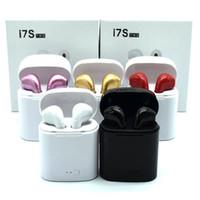 emballage de détail emballage universel achat en gros de-Bluetooth Casque I7 I7S TWS Twins Écouteurs Mini Écouteurs Sans Fil Casque avec Micro Stéréo V5.0 pour téléphone Android avec le paquet de détail
