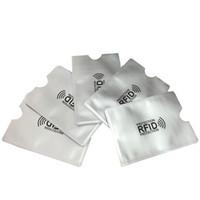 Wholesale Reader Id Card - Anti Rfid Blocking Reader Lock Bank Card Holder Id Bank Card Case Rfid Protection Metal Credit Card Holder Aluminium