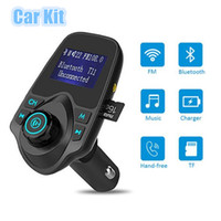 Wholesale mp3 player 1pcs resale online - 1PCS New T11 Bluetooth Car Kit Handsfree FM Transmitter MP3 Music Player Dual USB Car Charger Support TF Card U Disk Player