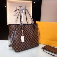 kupplungs-plaid-tasche großhandel-Hochwertiges echtes Leder berühmte Marken-Frauen-Handtaschen-Damen-Entwerfer-Handtaschen-Qualitäts-Dame Clutch Purse Retro Shoulder Bag