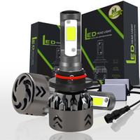 ingrosso kit h4 alogeno-Kit faro LED Mini6 Kit faro COB chip IP68 Kit faro H4 H7 H8 9005 9006 kit conversione LED alto e basso kit ricambio 12V alogena