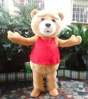 Wholesale Cute Mascot Costumes - 2018 High quality bear Mascot Costume Cute Cartoon Clothing Character Mascot Party Dress