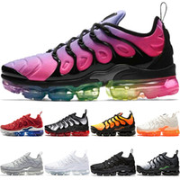 Wholesale plus size shoes boots resale online - Cheap TN PLUS Mens Women Running Shoes BE TRUE Yellow Triple Black White Oreo Volt Violet Men Designer Trainer Sport Sneaker Size