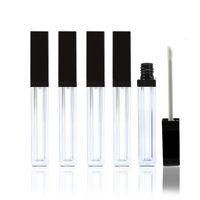 boş tüp temiz toptan satış-20Pcs 5ml Lipgloss Plastik Kutu Konteynerleri Boş Temizle Lipgloss Tüp Eyeliner Kirpik Konteyner Mini Lip Gloss Bölünmüş Şişe H-1