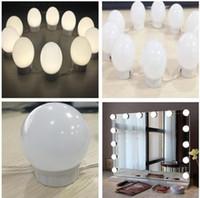 kleiderlampen großhandel-Lampen Hollywood Style LED Kosmetikspiegel Lichter Hollywood Lampe Make-up Schminktisch Kit USB-Netzteil mit Dimmer DDA653
