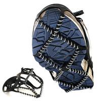 cubre zapatos para hombres al por mayor-Espesar antideslizante Crampon con primavera zapatos elásticos cubierta fácil de llevar crampones montañismo para hombres y mujeres 9 6gt B