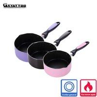 Wholesale milking tool - Gxyayybb 16cm Portable Mini Milk Pot Milk Heating Pot Nonstick Sauce Pan Practical Kitchenware Home Kitchen Cooking Pot Tool