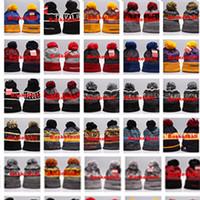 beyzbol boncuk şapkaları toptan satış-Sıcak Satış! 2018 Karışık sipariş Yeni Kış Takım Kasketleri Örme Beanie Yün Örgü Açık Kayak Bere Kapaklar Spor Beyzbol Beanies Şapka Kap