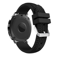 Wholesale tire gear for sale - Group buy Bemorcabo mm Silicone Sport Textured Tire Pattern Watch Strap Band Bracelet for Samsung Gear S2 Samsung Gear Sport Colors