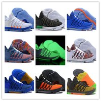 Wholesale kd lighting shoes for sale - Group buy 2018 Newest Men Zoom KD Anniversary PE BHM Light Weight Men Basketball Shoes colors KD Elite Low Kevin Durant Athletic Sport Sneake
