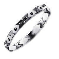 energie armband keramik großhandel-Health Caring Magnetic Energy Armband für Frauen Keramik Hämatit einstellbar