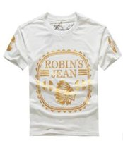 Wholesale designer shirts wholesale - New Fashion United States tide brand Robin jeans polo shirt mens t shirts men's short sleeve designer hip hop clothing Tshirts for men