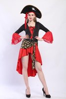 Wholesale costumes for pirates online - Pirate Uniform Halloween Game Uniform Cosplay Suit Female Pirate For The Halloween Holiday Costumes Masquerade Clothes