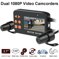 Wholesale front view camera waterproof for sale - New DV188 inch FHD Motorcycle DVR Waterproof Dual Lens Front and Rear View Camera Video Recorder Dash Camcorder