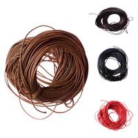 pulseras hechas cadena al por mayor-Fityle 10 metros de cera cuerda de cuerdas de nylon cuerda hecha a mano para la pulsera de bricolaje Fabricación de la joyería mano cosiendo materiales de fabricación negro