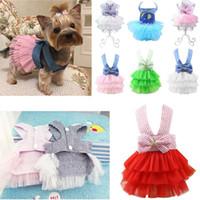vestidos de novia de cachorro al por mayor-Ropa de perro de mascota de moda Vestido de princesa Sweety Pequeños perros de tamaño medio Accesorios de mascota Teddy Puppy Vestidos de novia XS-XXL