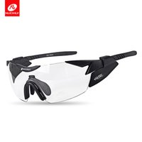 Wholesale nuckily cycling - NUCKILY Sport Eyewear Cool Change Polarized Cycling Glasses Night Vision Road and Moutaion Bike Glasses With Myopia Frame PA10
