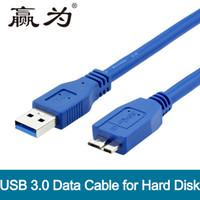 cable hdmi b al por mayor-USB 3.0 Tipo A a Micro B Cable USB3.0 Fast Data Sync Cable de cable para disco duro externo Disco HDD macho a macho 0.3m 0.5m 1m 1.5m