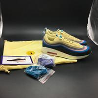 mejores zapatillas para correr al por mayor-Corduroy Sean Wotherspoon 97 1 VF SW Hybrid Hombres Jogging Zapatos para correr Mujeres Rainbow Sole zapatos casuales con la mejor calidad